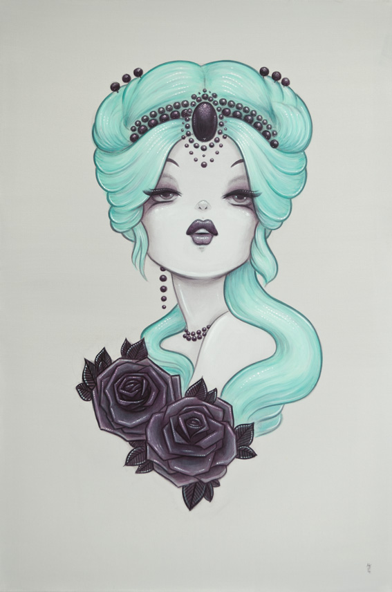'Candy' Original Painting Inspired By 1920s Pinups And The Roaring Twenties