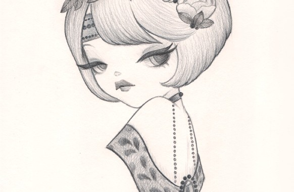 Sweety Pencil Drawing : Flights Of Fancy Exhibition
