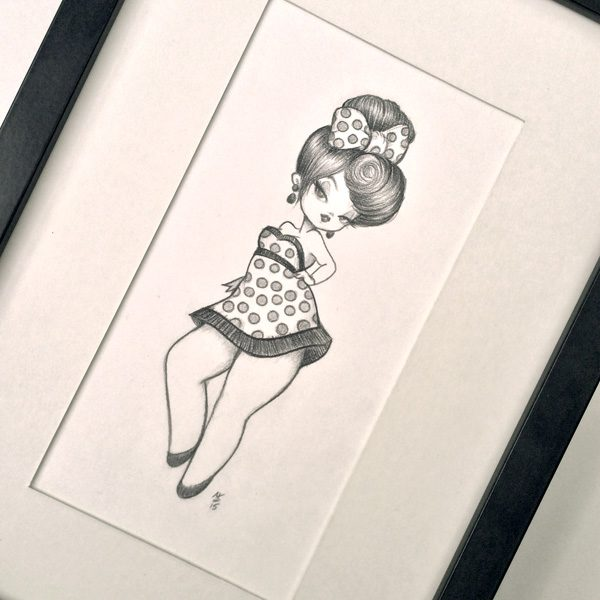 Original Pencil Drawing : My Tiny Dancer
