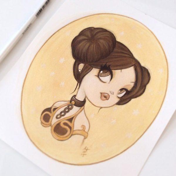 Original Painting : Little Leia